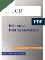 Informe de Política Monetaria - Uruguay