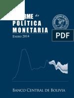 IPM-EnERO2014 - Banco Central de Bolivia