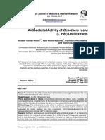 2012 - Antibacterial Activity of Oenothera Rosea