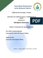 nitrogeno amoniacal