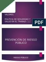 Prevención de Riesgo Público