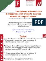 Mappatura intensità acustica - Bonfiglio Pompoli
