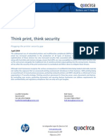 Think print, think security - Plugging the printer security gap