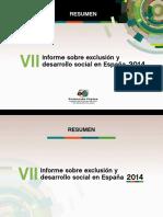 Informe Sobre Exclusión y Desarrollo Social en España 2014