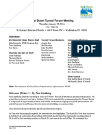 DC Water 1st Street Tunnel_Forum_Meeting_Minutes 2016 01 28