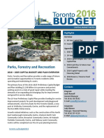 Toronto Parks, Forestry & Recreation 2016 Budget
