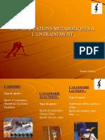 Les Filieres EnergLES FILIERES ENERGETIQUES METABOLISMEetiques Metabolisme