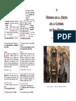 Visperas Catedrae Sancti Petri 2016