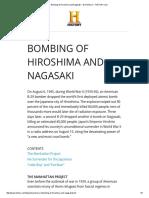Bombing of Hiroshima and Nagasaki - World War II - HISTORY
