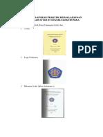 Format Laporan Praktek Kerja Lapangan