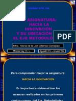 La Asignatura Hacia La Innovación y Su Ubicación en El Eje Metodológico.ppsx