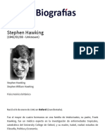 Biografía de Stephen Hawking - Quién Es, Obras, Información, Resumen, Vida