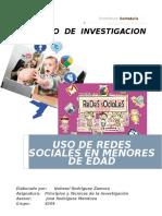 """Proyecto """"Uso de Redes Sociales en Menores de Edad"""""""