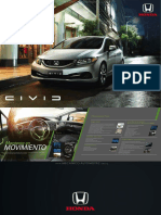 Catalogo Especificaciones Automovil Civic Sedan Coupe Honda 2015