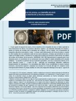 311. IGNACIO DE LOYOLA, LA COMPAÑÍA DE JESUS Y LA FORMACION DE LA ESCUELA MODERNA.