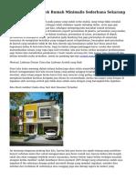 Tips Mencari Arsitek Rumah Minimalis Sederhana Sekarang