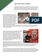 Teknik Menyeleksi Agen Bola Online Terkenal