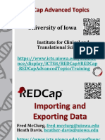 REDCap Import Export Data