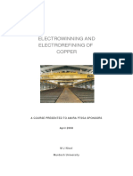 Electrowinning and Electrorefining of Copper (Murdoch University)