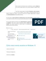 Añadir Cuenta en Windows 10