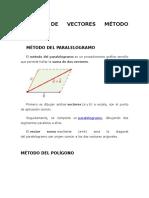 Suma de Vectores Método Grafico