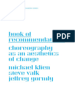Choreography as an Aesthetics of Change