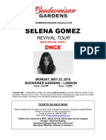 Press Release - Selena Gomez Revival Tour 2016 - Support Added