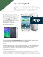 Trik Cara Memilih HP Android Yang Cocok