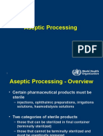 WHO Ppt on Aseptic Processing
