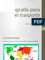 Geografía Para El Trasporte