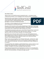 Ted Cruz Open Letter to Rand Paul Supporters
