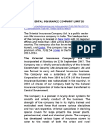 The Oriental Insurance Company Limited
