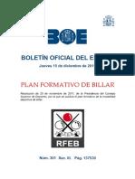 3 Plan Formativo de Billar