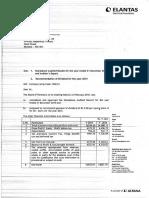 Financial Results, Auditors Report for December 31, 2015 [Result]