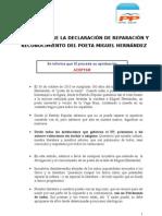 Argumentario moción Miguel Hernández