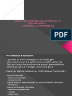 Advanced Analysis and Appraisal of Performance