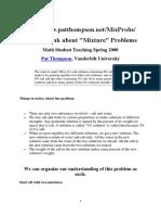 Pat Thompson Misture Problem