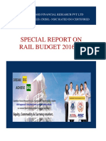 Rail Budget 2016-17 Highlights