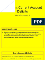unit 15 - lesson 5 - persistent current account deficits