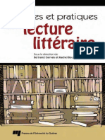 Theories Et Pratiques de La Lecture Litteraire - PUQ