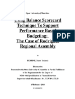 using balanced scorecard to support Performance Based Budgeting