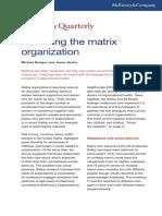 Revisiting the Matrix Organization