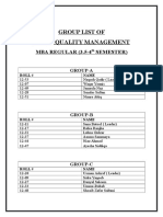Tqm Group List