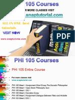 PHI 105 Proactive Tutors/snaptutorial