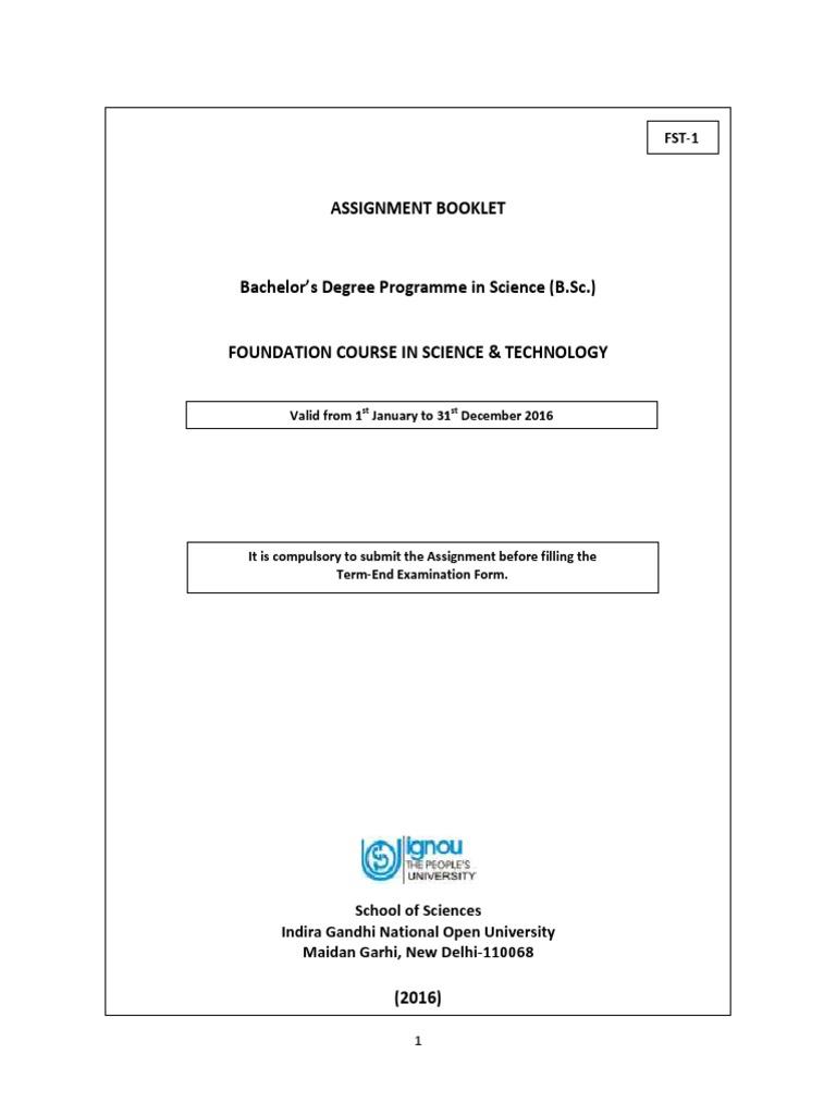 Fst-1 assignment