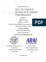 Effect of various parameters on performance of IC engine
