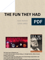 The Fun They Had