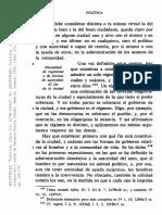 ARISTÓTELES Política, III, 1278b-1281a