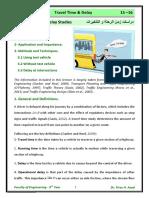 Lec 01 Traffic Time and Delays Studies