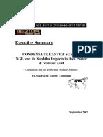 East Suez Condensate Markets